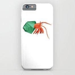 Origami Hermit Crab iPhone Case