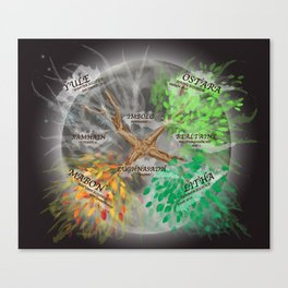 Wheel of the Year Canvas Print