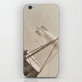 Dirigible Airship flying over USS Pennsylvania BB-38 iPhone Skin