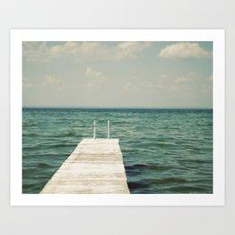 Mint Lake Escape  Art Print