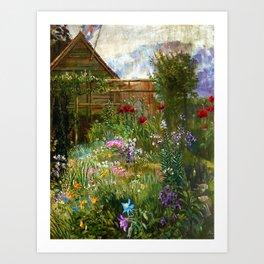 A Garden in Spring by Anna Lea Merritt Art Print