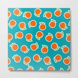 Zesty Orange Metal Print