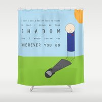 shadow Shower Curtains featuring Shadow by Madeline Audrey