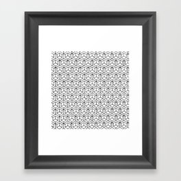 Hand Drawn Hypercube Framed Art Print