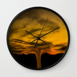 sky in flames Wall Clock