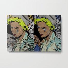 Nurse Pop/Street Art Collage Metal Print