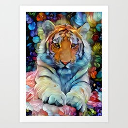 Painted Tiger Art Print