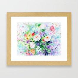 "Watercolor Painting ""Good Mood Flowers Framed Art Print"