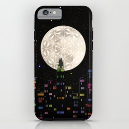The Flower of Life Moon iPhone Case