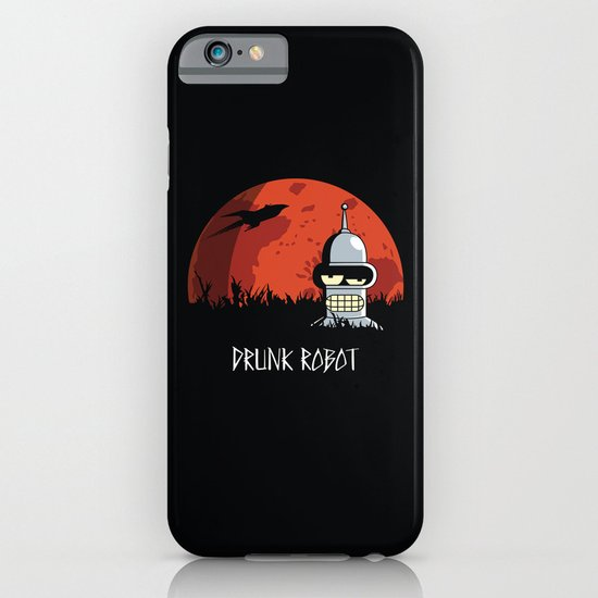 Drunk Robot iPhone & iPod Case