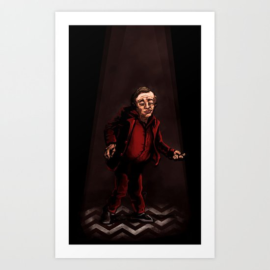 Twin Peaks - The Man from Another Place Art Print