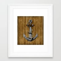 anchor Framed Art Prints featuring Anchor by MacDonald Creative Studios