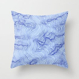 Pure Glacier Throw Pillow
