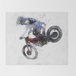 Nose Stand - Motocross Move Throw Blanket