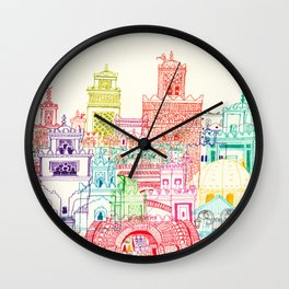 Marrakech Towers  Wall Clock