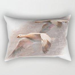 Snow geese in winter Rectangular Pillow