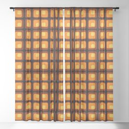 60s Retro Mod Sheer Curtain