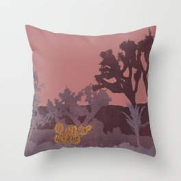 Just A Tiny Golden Cactus Throw Pillow