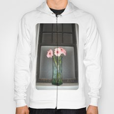 pink daisies ~ flowers on vintage sill Hoody