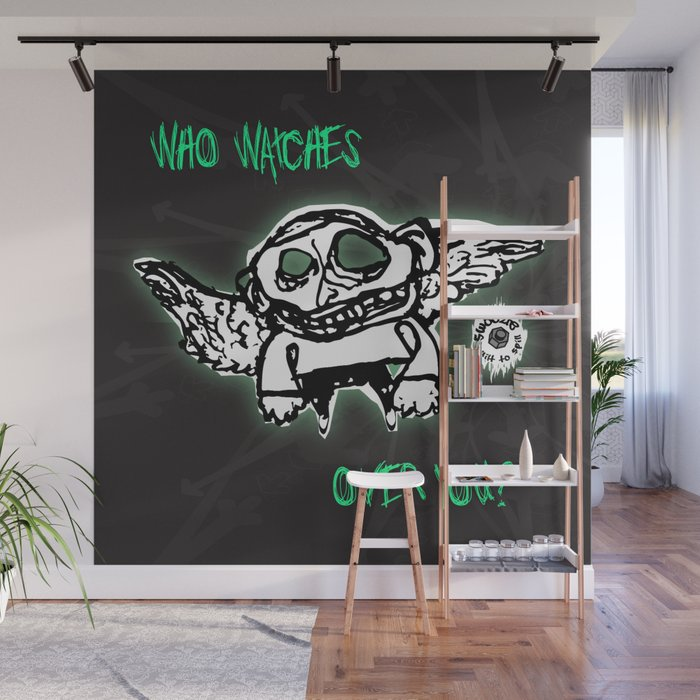 Swoozle Guardian Angel Wall Mural by swoozle Society6