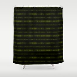 Lime Dna Data Code Shower Curtain