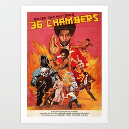 36 CHAMBERS Art Print