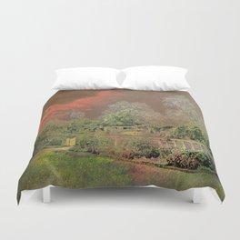 English Garden Sunset Duvet Cover