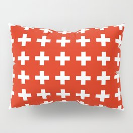 flag of switzerland 2-Switzerland, Alps,swiss,Schweizer,suisse,zurich,bern,geneva Pillow Sham