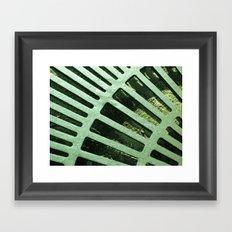 Green Grate Framed Art Print