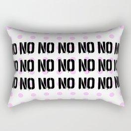 No. Nope. Nada. Nein. The Opposite of Oui. Rectangular Pillow