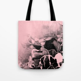 Black Marble and Pink Tote Bag