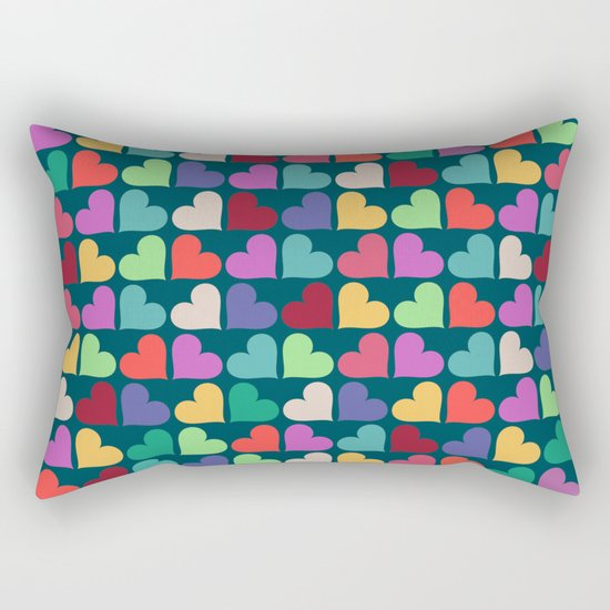 Colorful Love Pattern XII Rectangular Pillow