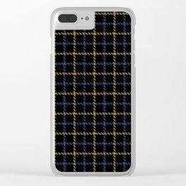 Aberdeen, Alpine,  Resolution Blue,  Camel, Tattered Salvatore Clear iPhone Case