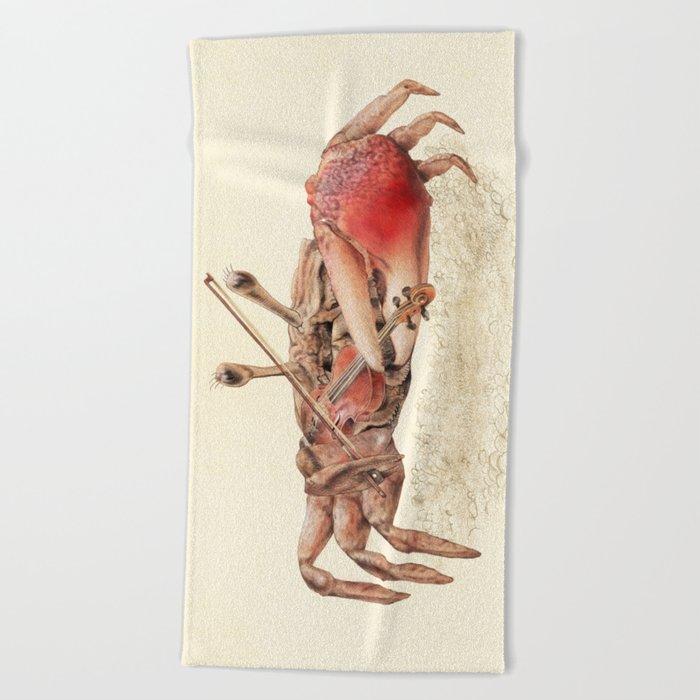 Fiddler Crab Beach Towel