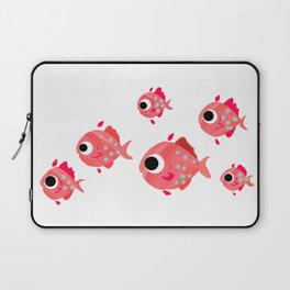 School of Pink Fish Laptop Sleeve