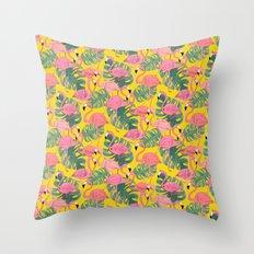 Flamingos Day Throw Pillow