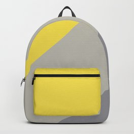Grey and Yellow Line Design Solid Colors 2021 Color of the Years and Accent Hue Backpack
