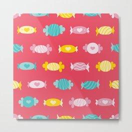 Pink sweet love candies  Metal Print