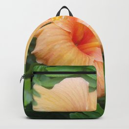 Orange Hibiscus Flower Backpack
