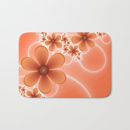 Good Mood, Fractal Art Fantasy Flowers Bath Mat