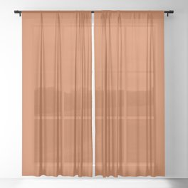 Now BURNT ORANGE solid color  Sheer Curtain