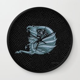 Dragon Letter D, from Dracoserific, a font full of Dragons. Wall Clock