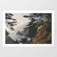 big sur Art Prints featuring Big Sur by Ryan Matthew
