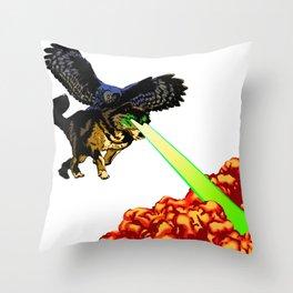 OWL WOLF ALLIANCE Throw Pillow