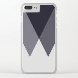 Sawtooth Blue Grey Clear iPhone Case