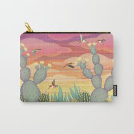 rufous hummingbirds & cactus Carry-All Pouch