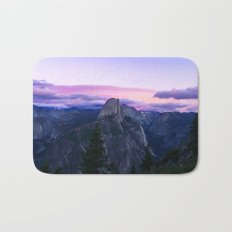 The Mountains and Purple Clouds Bath Mat