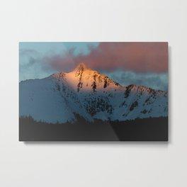 SUMMIT ON FIRE Metal Print