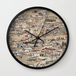 Skyline Roofs of Fes Marocco Wall Clock