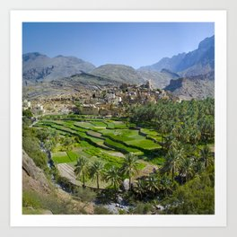 Bilad Sayt Village Oman Art Print
